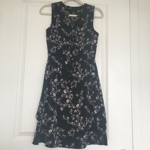 Mossimo Black / Floral Print Sleeveless Dress